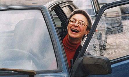 Murdered Russian investigative journalist Anna Politkovskaya is seen. Sunday will be the first anniversary of the murder of journalist Anna Politkovskaya.