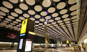 Baggage reclaim at the new Heathrow Terminal 5.