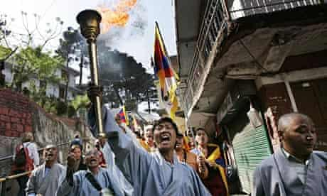 Tibetan Youth Congress activists in India.