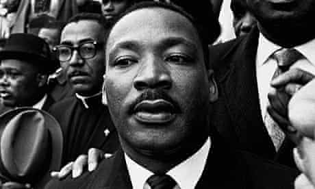 Martin Luther King Jr.at a rally held in Selma, Alabama, during marches to Montgomery in 1965