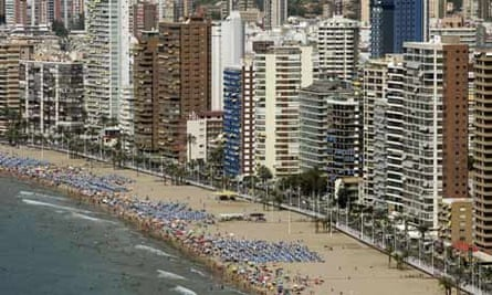Benidorm on Spain's Costa del Sol
