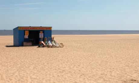 A beach hut in Great Yarmouth