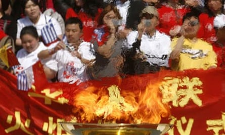 Olympic flame in Athens.