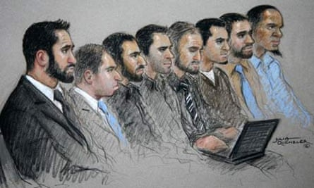 Heathrow terror suspects court drawing