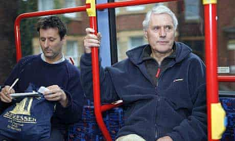 Steven Morris and his father Peter Morris on the Stourbridge to Dudley bus