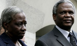 Gloria Taylor with her husband Richard outside the Old Bailey in August 2006 after Danny and Ricky Preddie were convicted of killing their son Damilola in 2000.