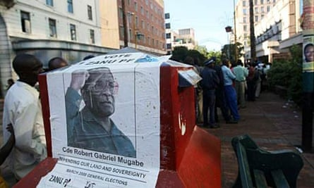 Robert Mugabe election poster.