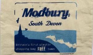 A reusable cloth bag from Modbury in Devon