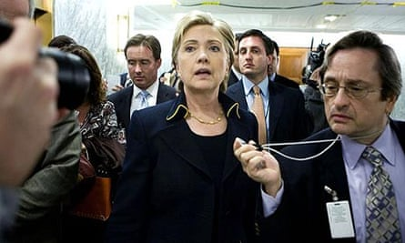 A pensive Hillary Clinton in Washington last week