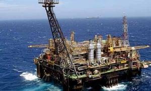 Oil platform off Rio de Janeiro