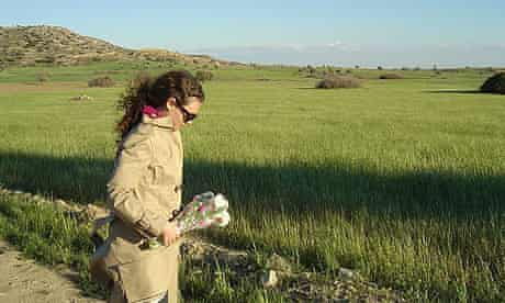 Angelique Chrisafis at the site of the mass grave in Cyprus where the body of her uncle was found in September 2006