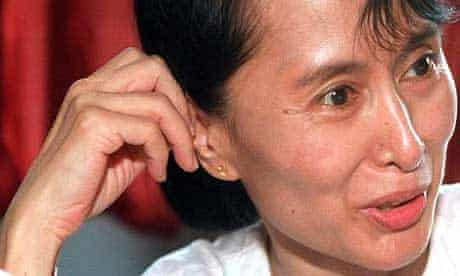 The detained Burmese opposition leader, Aung San Suu Kyi. Photograph: Pornchai Kittiwongsakul/EPA