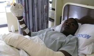 Mike Mavhura in hospital in Harare