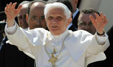 Pope Benedict XVI leaving Rome on his first official visit to the United States