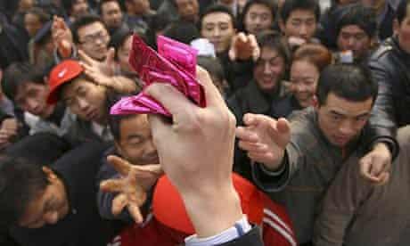 Free condoms in China.