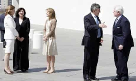 Gordon Brown meets Ted Kennedy