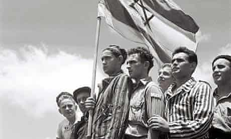 Jewish survivors of the Buchenwald Nazi concentration camp arrive at Haifa port in 1945