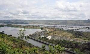 Inga dam on the Congo River.