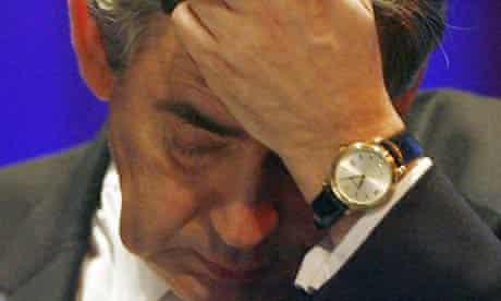Gordon Brown at the Scottish Trades Union Congress conference in Inverness, Scotland