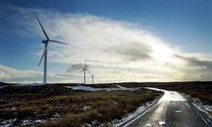 North Lochs wind turbine.