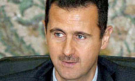 Bashar Assad, the Syrian president