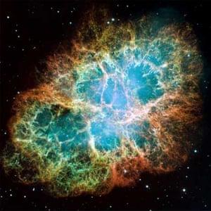 Hubble Space Telescope image of the Crab Nebula