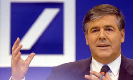 Deutsche Bank chief executive Josef Ackermann