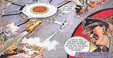A Dan Dare cartoon, taken from the new Science Museum exhibition