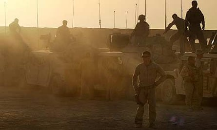 US marines from the 24th Marine Expeditionary Unit in southern Afghanistan
