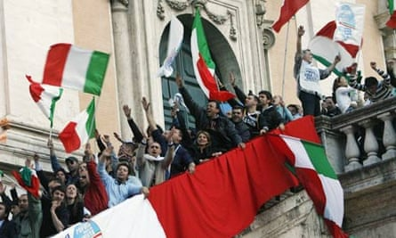 Supporters of Gianni Alemanno