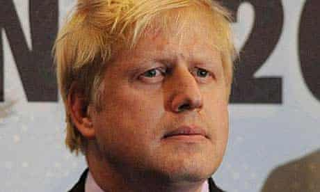 Boris Johnson at the announcement of the London mayoral election results