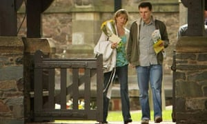 Kate and Gerry McCann leave the Church of St Mary and St John in their Leicestershire home town of Rothley after a prayer service to mark one year since their daughter Madeleine disappeared