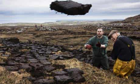 Peat cutters on Lewis