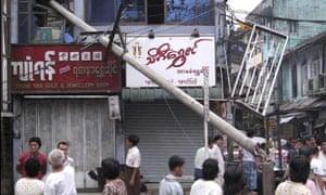 Rangoon cyclone damage