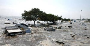 Scenes of devastation at Madras, India, after the tsunami struck