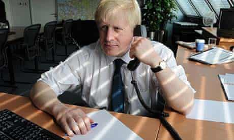 New London Mayor Boris Johnson in his office at City Hall in London