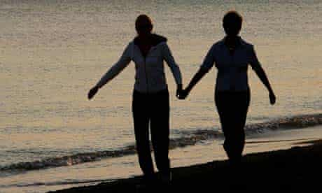 Two women on the beach at Lesbos