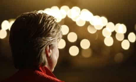 Hillary Clinton at a fundraiser in Washington, DC