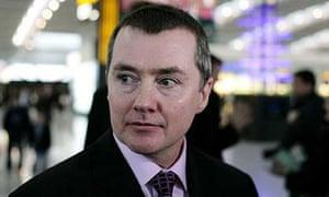 British Airways chief executive Willie Walsh at Terminal 5, Heathrow Airport