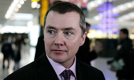 British Airways chief executive Willie Walsh at Terminal 5, Heathrow Airport