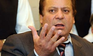 Nawaz Sharif addresses a press conference in Islamabad