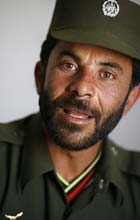 Mr Jailani, Chief of Police for the Afghan National Police in the Bermel district, Paktika province. Photograph: John D McHugh