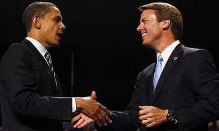 Barack Obama and John Edwards