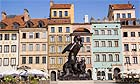 The Mermaid Fountain in the old town square (rynek stare miasto) in Warsaw, Poland