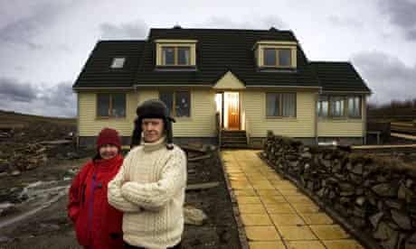 Michael and Dorothy Rea outside their home on Unst
