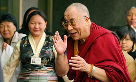 The Dalai Lama arrives outside his hotel in central London, at the start of an 11-day visit to Britain.