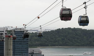 A cable car in Singapore