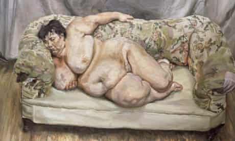 Sue Tilley in Lucian Freud's portrait, Benefits Supervisor