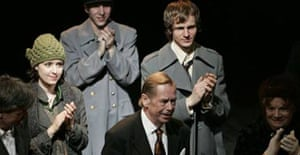 Vaclav Havel in his new play 'Leaving'
