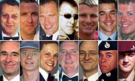 composite of servicemen killed in nimrod crash